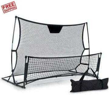 Outdoor Toys Everfit Portable Soccer Rebounder Net Volley Training Football Goal Pass Trainer