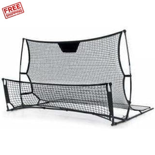 Outdoor Toys Everfit Portable Soccer Rebounder Net Volley Training Football Goal Trainer XL
