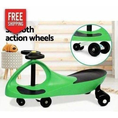 Outdoor Toys Keezi Kids Ride On Swing Car Green