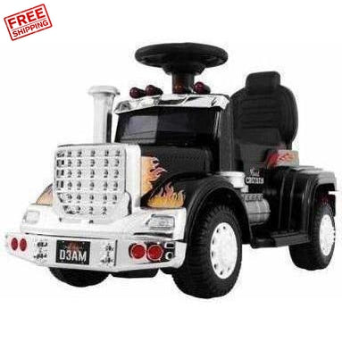 Outdoor Toys Rigo Kids Ride on Truck Black
