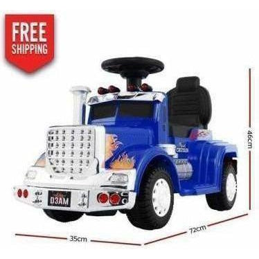 Outdoor Toys Rigo Kids Ride on Truck Blue
