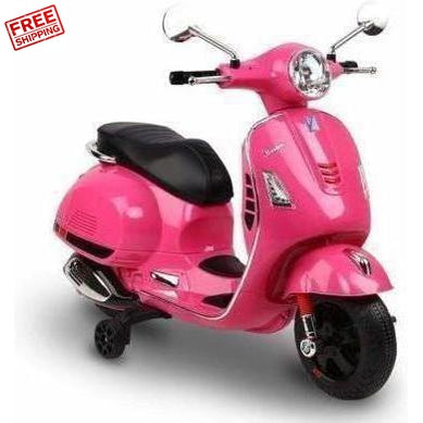 Outdoor Toys Rigo Kids Ride On Vespa Licensed Toy Motorbike Pink