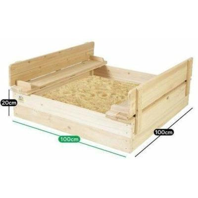 Outdoor Toys Strongbox Square Sandpit
