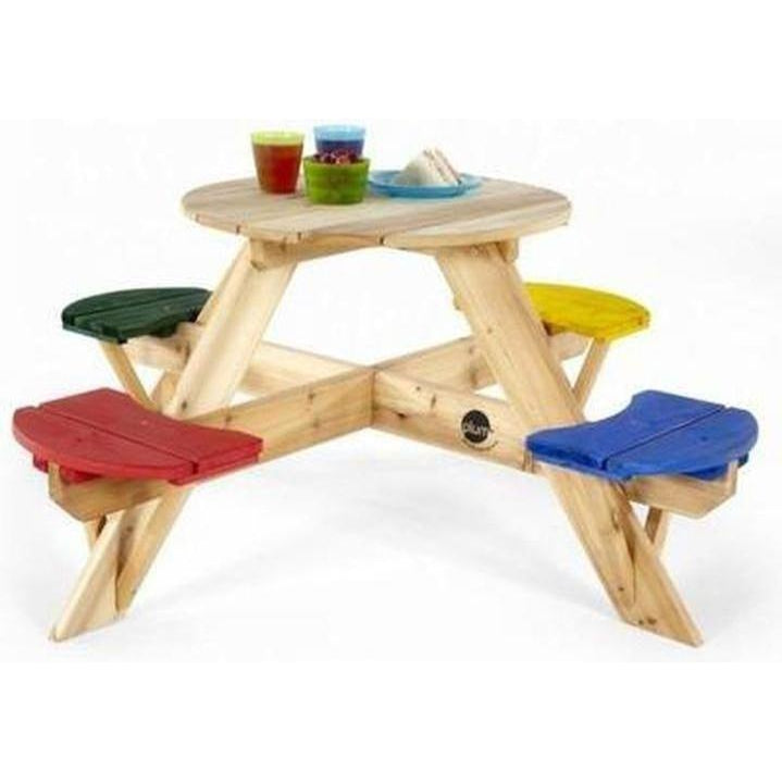 Plum® Circular Picnic Table with coloured seats