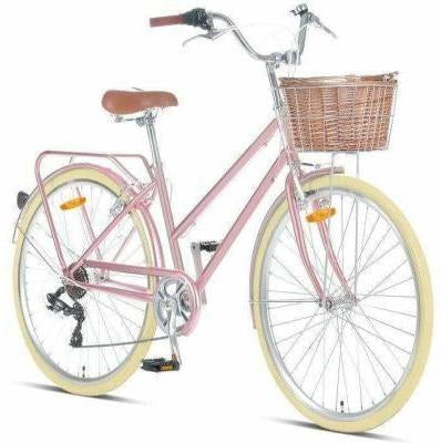 "Pomona Rose Gold Ladies 17"" Retro Bike"