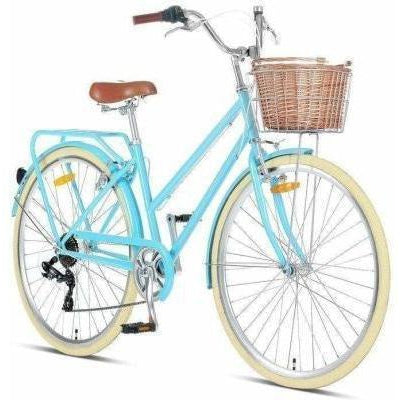 "Pomona Sky Blue Ladies 17"" Retro Bike"