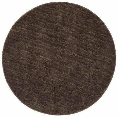 SHAG Soho Round Shag Floor Rug Dark Brown