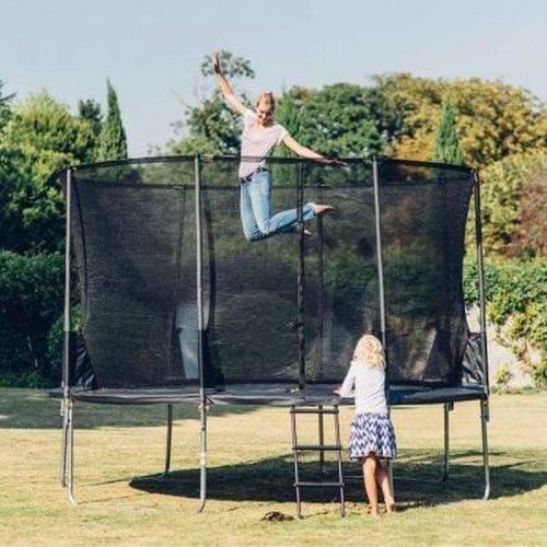 Buy Plum Trampoline for Home Backyard 12ft Space Zone Black | Australia Delivery