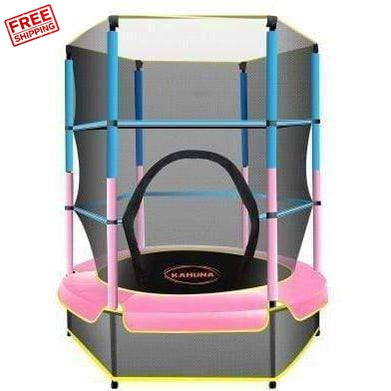 Kahuna Mini 4.5 ft Trampoline Blue Pink