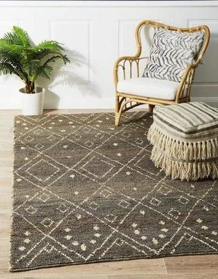 TRADITIONAL Kenya Misu Hand Woven Tribal Jute Floor Rug