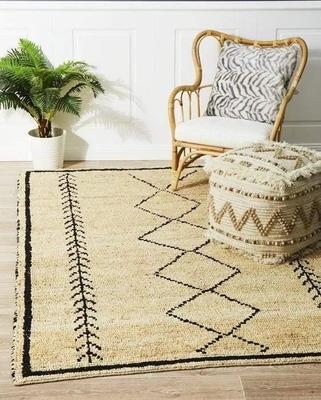 TRADITIONAL Kenya Tumu Hand Woven Tribal Jute Floor Rug