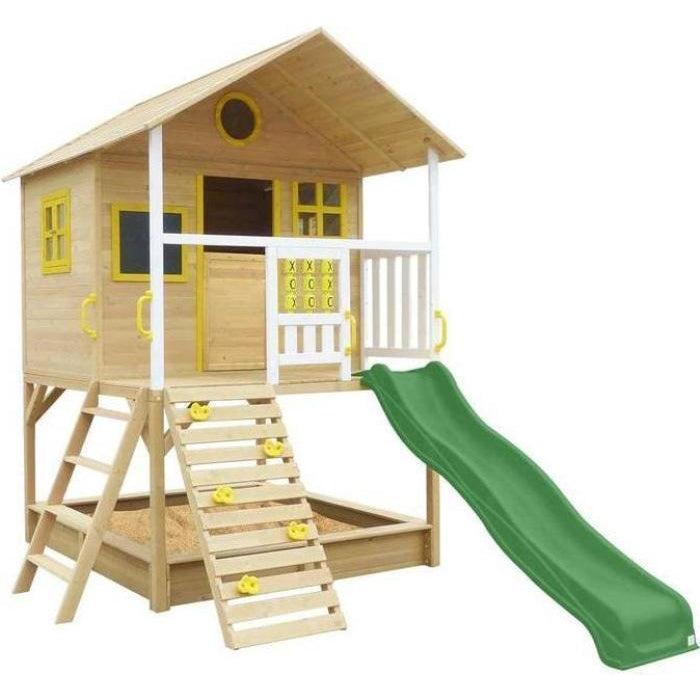 Warrigal Cubby House with Green Slide