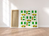 Yellow Danfo and Nigerian Flag - Canvas Print