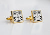 African Mask Outline Cufflinks