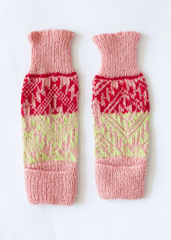 Lime, Pink & Red Leg/Arm Warmer