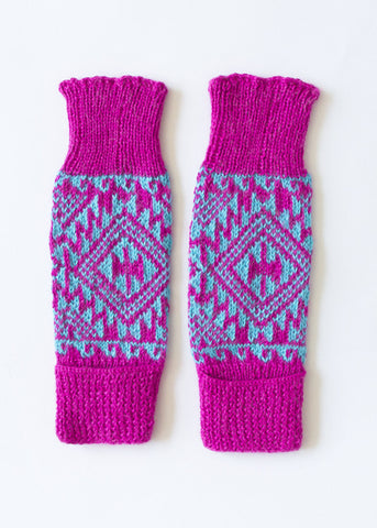 Fuschia & Blue Leg/Arm Warmer
