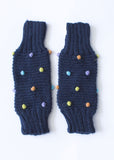 Navy Multi-Colored Pom Leg/Arm Warmer