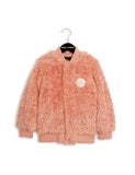 Mini Rodini Pile Baseball Jacket in Pink
