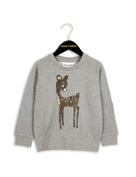 Mini Rodini Bambi Sweatshirt in Grey