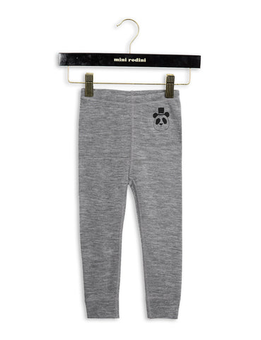 Mini Rodini PANDA Wool Leggings in Grey