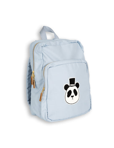 Mini Rodini PANDA Backpack in Light Blue