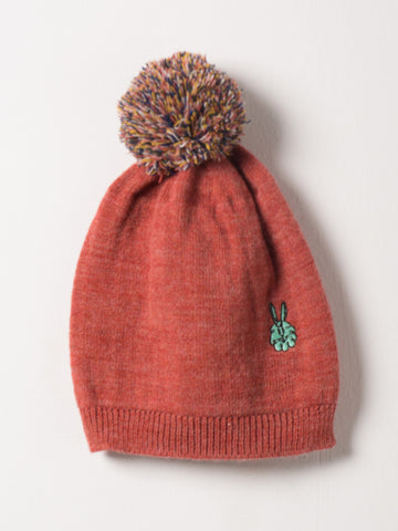 Bobo Choses Red Embr. Bunny Beanie