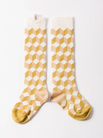 Bobo Choses Art Long Socks in Yellow