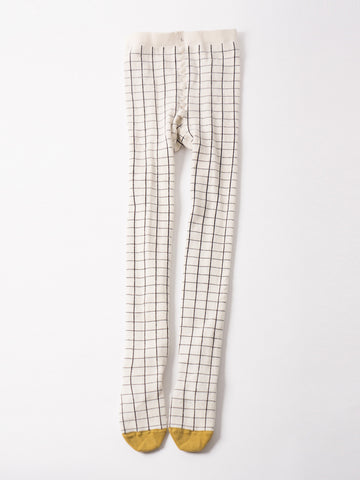 Bobo Choses Checked Cream Tights