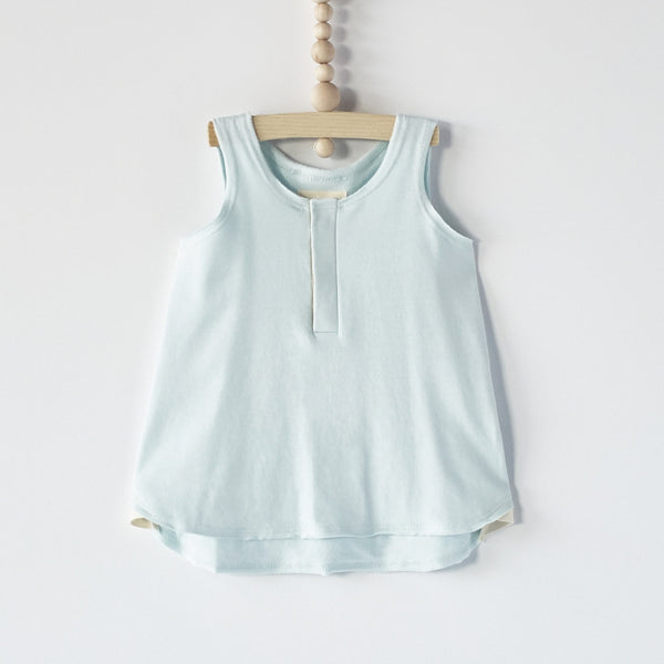 Bacabuche Henley Tank in Mint