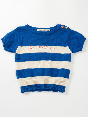 "Bobo Choses ""Ceci n'est pas"" Knitted Tee"