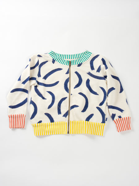 "Bobo Choses ""David"" Print Zip Sweatshirt"