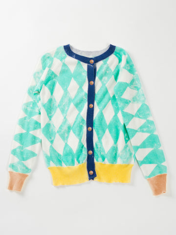 "Bobo Choses ""Diamonds"" Knitted Cardigan"