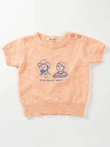 "Bobo Choses ""Vincent et Pablo"" Knitted Tee"