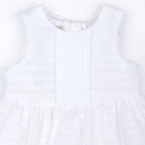 Organza Stripe Bodice Dress