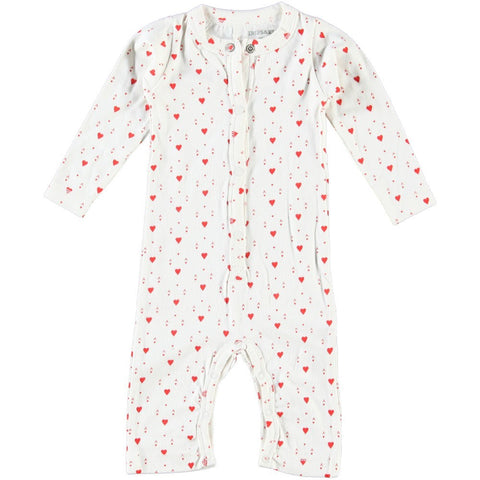 """Ace Of Hearts"" Baby Playsuit"