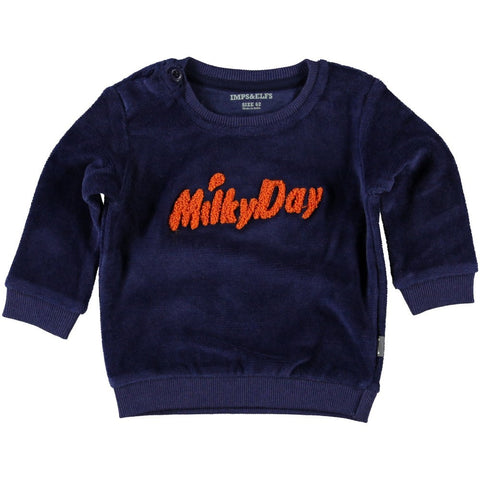 Velour Milky Day Sweatshirt