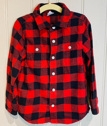 GAP Red and Black Flannel Shirt