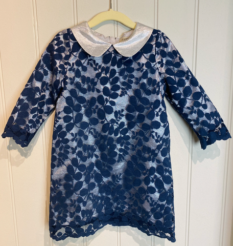 Hucklebones Navy and Silver Dress