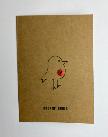 Rockin' Robin Christmas Card