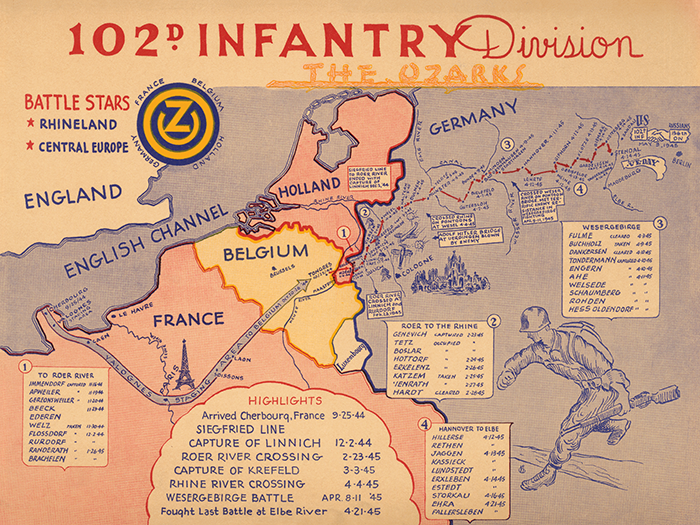 102nd Infantry Division Campaign Map