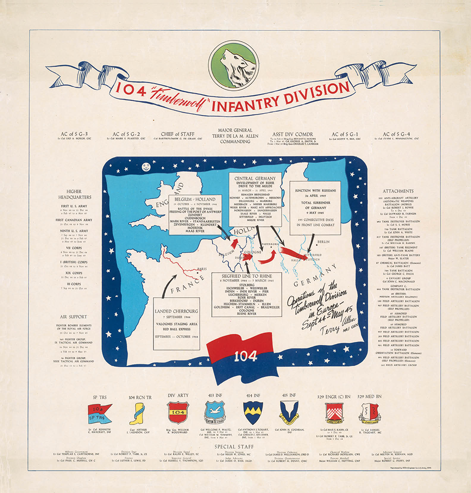 104th Infantry Division Campaign Map