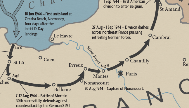 30th Infantry Division Campaign Map