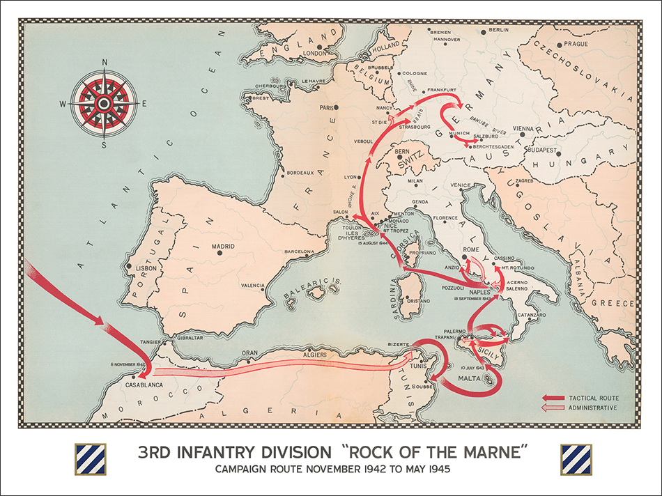 3rd Infantry Division Campaign Map