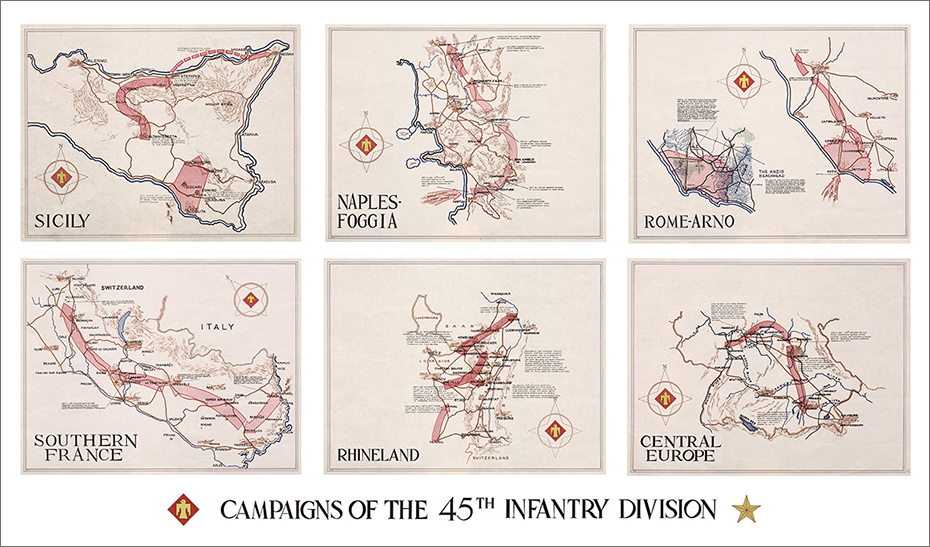 c45th zoom Campaign Map of the 45th Infantry Division
