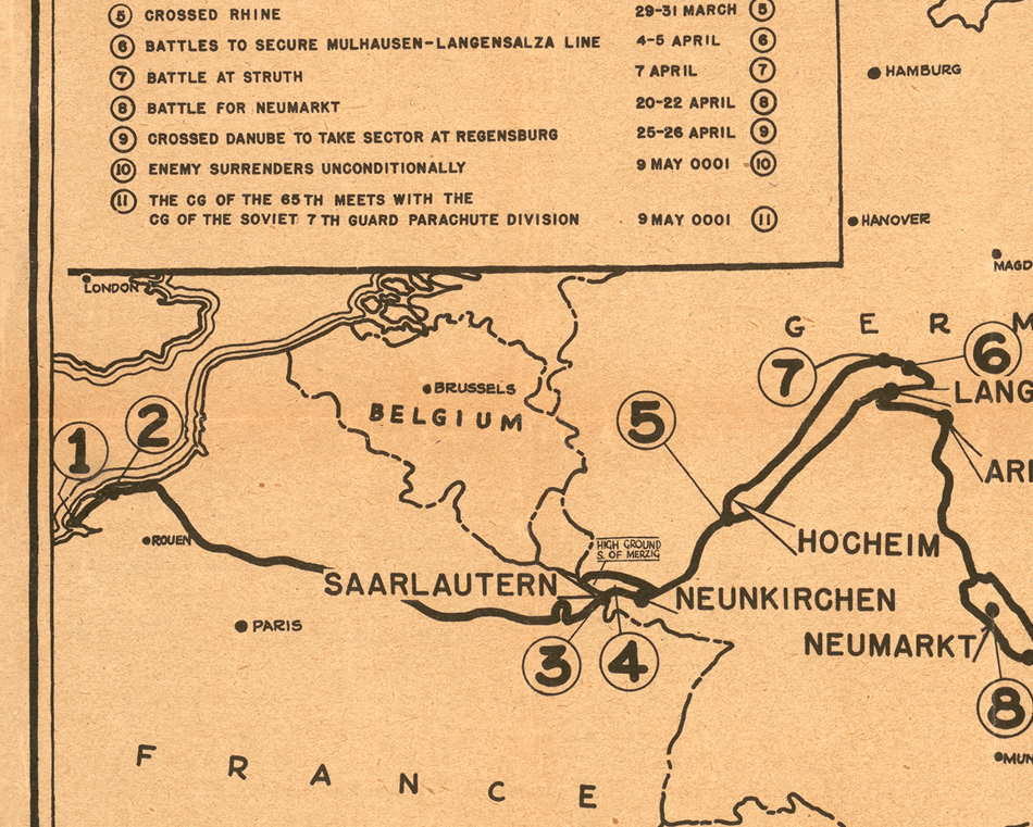 65nd Infantry Division Campaign Map
