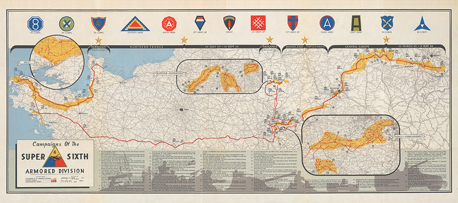 6th Armored Division Campaign Map