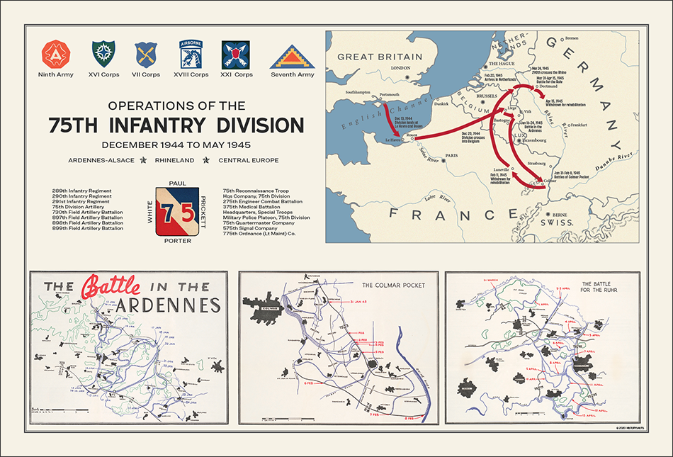 75th Infantry Division Campaign Map