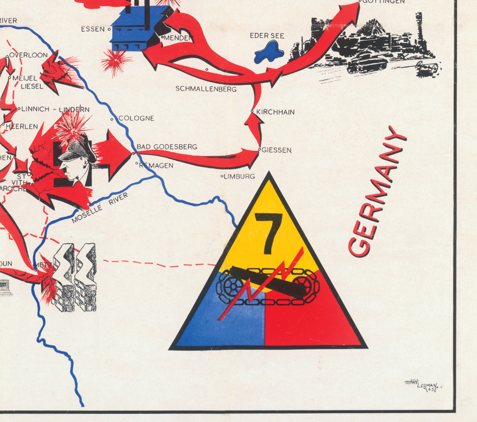 7th Armored Division Campaign Map