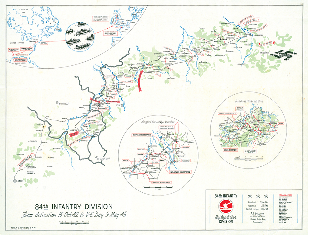 84th Infantry Division Campaign Map