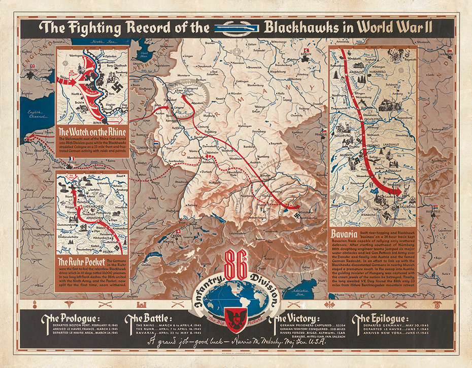 86th Infantry Division Campaign Map